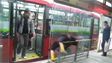 Guy fall asleep on bus stop